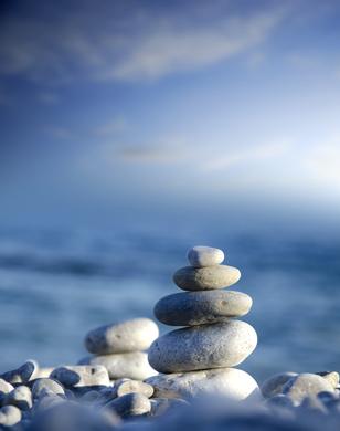 Steine mit Himmel